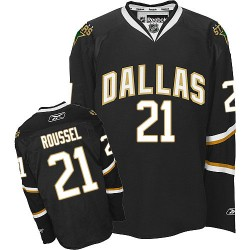 Adult Premier Dallas Stars Antoine Roussel Black Official Reebok Jersey